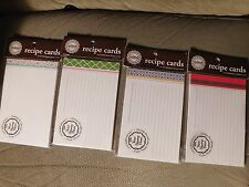 Recipe Cards - Stampable - Lot of 4 - 48 Cards in Total - Three Designing Women