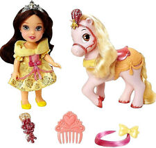 Disney Princess Petite Toddler Doll Belle and Pony Brand New