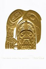 The Raven Steals the Salmon Bill Reid Gold Embossed Art Card Northwest Native