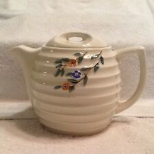 Vintage Porcelier Vitreous China beehive style Teapot / Coffee Pot With Lid