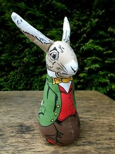 VINTAGE DEANS RAG BOOK CHARACTER TOY DOLL~BUNNY RABBIT RAG DOLL