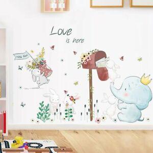Wandtattoo Wandaufkleber Tiere Elefant Hase Love Kinderzimmer Baby (7185)