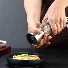 2 PCS Manual Salt Pepper Grinder Set Stainless Steel Pepper Mills Kitchen Tool
