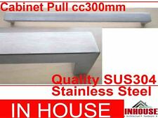 Cabinet Pull Handles 300x20x30mm-Satin stainless steel