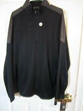 Under Armour 1/4 Zip Waffle Fleece Pullover Size Xlarge Loose Fit - Black / Grey