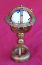 Armillary Sphere Miniature Brass Golf Ball Paperweight Desk Hand Crafted