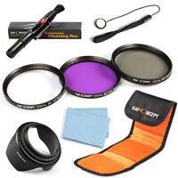 62mm UV CPL FLD Lens Filter Kit Hood Pen For Sony Alpha A77 A57 A58 A65 18-250mm