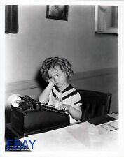 Shirley Temple at typewriter RARE Photo