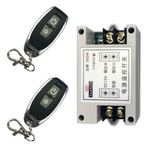 Car High Power DC 12V RF Wireless Receiver Remote Control Light Battery Switch