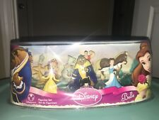 NWT DISNEY BELLE PLAY SET BEAUTY AND THE BEAST FIGURINE SET 7-PC DELUXE SET
