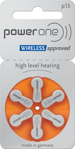 60 x Powerone Typ P13, PR48 Hörgerätebatterien (Hearing Aid) NEU 10 Blister