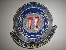Korea War (1950-53) Patch Us Navy Uss Bon Homme Richard Cv-31 Task Force 77