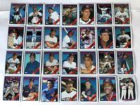 1988 CLEVELAND INDIANS Topps COMPLETE Baseball Team SET 28 Cards CARTER FRANCO!