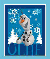 "OLAF SNOWMAN DISNEY FROZEN SISTERS FOREVER  FABRIC PANEL  WALL HANGING  35"" x44"""