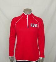 Cincinnati Reds Majestic Women's Authentic Collection 1/2-Zip Fleece