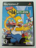 Simpsons Hit & Run Black Label Complete with Case and Manual PlayStation 2 PS2