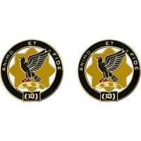 """USA Army Unit Crest DUI 1st Cavalry Regiment  """"ANIMO ET FIDE"""" 1 PAIR"""