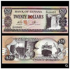 Guyana 20 Dollars (UNC) 全新 圭亚那 20元 C/07 279366