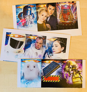 Dr Doctor Who Battles in Time Cards Devastator UNCUT CONCEPT PRINTERS SHEETS Set