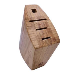 Shun Bamboo Knife Knives Block Holder 4 Slot Kitchen Counter