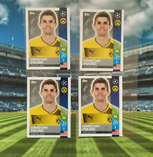 Lit 4 X Christian Pulisic Rookie Sticker Topps Champions League 2017-18 INVEST