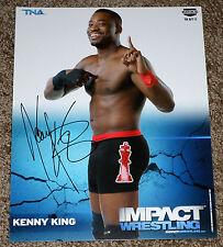KENNY KING Signed Autographed TNA Impact Wrestling 8x10 Promo Photo