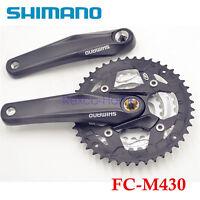 Shimano Alivio FC-M430 9 Speed MTB Bike Square Crank Triple Crankset 22×32×44T