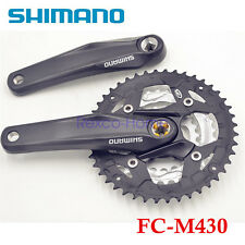 New Shimano Alivio FC-M430 9 Speed MTB Bike Square Crank Crankset 22×32×44T