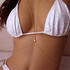 Women Crossover Harness Body Belly Waist Chain Necklace Bikini Beach Jewelry