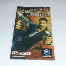 NO GAME - Dead to Rights ORIGINAL OFFICIAL GAMECUBE MANUAL ONLY - NO GAME