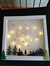 Xmas decoration light up frame led handmade unique