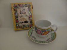 "Mary Engelbreit ""Bloom Where You Are Planted"" Tea Cup & Saucer & Photo Album"