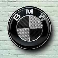 BMW SCHWARZ LOGO 0.6m groß GARAGE ZEICHEN WAND-PLAKETTE AUTO KLASSISCH WERKSTATT