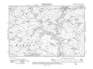 Old map Hessenford, Seaton Bridge 1907 - Cornwall, repro 44-SE