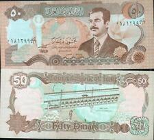 IRAK billet neuf de 50 DINARS Pick 83 pont SADDAM HUSSEIN IRAQ STATUETTE  1994