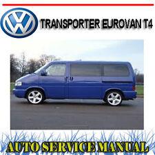 VOLKSWAGEN VW TRANSPORTER EUROVAN T4 2.5L WORKSHOP SERVICE REPAIR MANUAL ~ DVD