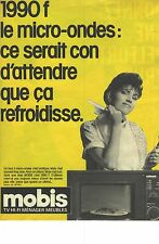 PUBLICITE ADVERTISING  1988   MOBIS magasin éléctroménager