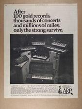 1976 ARP Odyssey Pro Soloist AXXE String Ensemble 2600 Explorer vintage print Ad