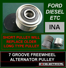 7 GROOVE INA ALTERNATOR FREE WHEEL OVER RUNNING PULLEY TO FIT SOME FORD 233657