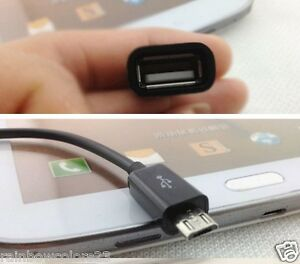 🇬🇧 2 x USB A 2.0 Female to Micro USB B Male OTG Adapter Data Cable for Mobile