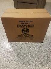 Civil Defense Ration Crackers - 1962, Never Opened - 2 - 12lb 4 oz tins per box