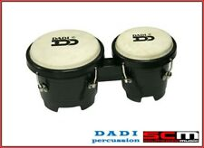 "DADI 4½"" & 5"" BLACK MINI BONGO DRUMS NATURAL SKINS BONGOS IDEAL FOR KIDS! NEW"