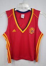 Adidas Spain home soccer jersey Raul #7 sleeveless 2004 women size XL