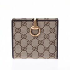 GUCCI GG pattern horsebit double-sided wallet Beige / dark brown 805000933996000