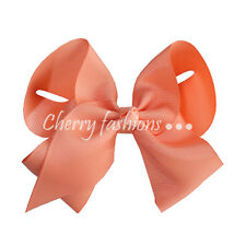 """6"""" Large Bow Hair Alligator inch knot Clips Girls Ribbon Bows Kids Accessories"""