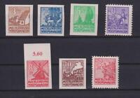 SBZ 29-36 X Freimarken Mecklenburg Kreidepapier postfrisch komplett (bt222)