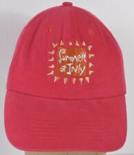 Red Inly School Baseball Hat Cap Adjustable