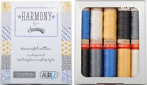 Aurifil Thread 50 wt & Aurifloss 5 small spools each - Harmony by Sweetwater