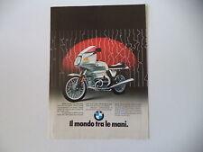 advertising Pubblicità 1982 MOTO BMW R 100 RS