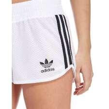 S/M  adidas Originals Women's  3 STRIPES  MESH  SHORTS  UK12-US8  WHITE  LAST1